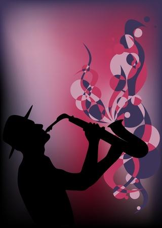 saxophonist vector Vector