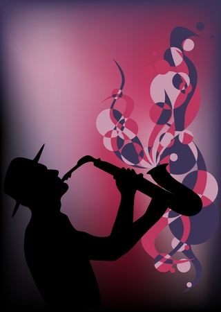 saxophonist: saxophonist vector Illustration