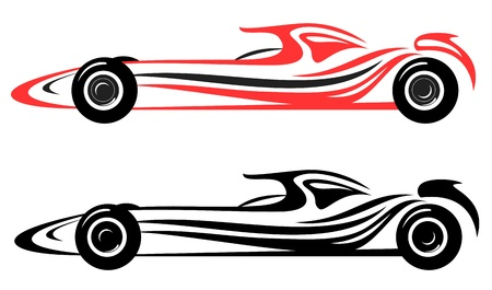 sports cars: racing car vector emblem