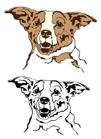 dog outline: cute cheerful dog vector Illustration