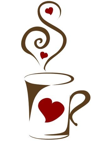 kroes: koffiekopje vector illustratie Stock Illustratie