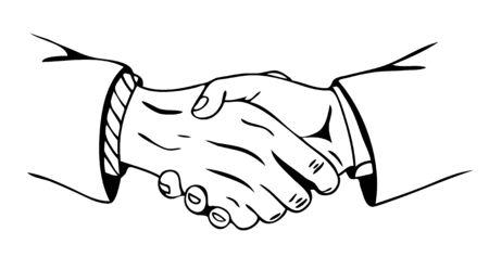 mani che si stringono: vettore stretta di mano