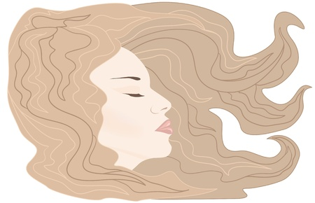 sleeping girl vector Vector