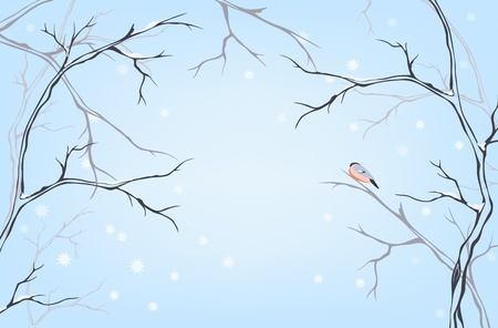 winter background with place for your text Vector