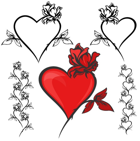 clip-art set for Valentines day design Vector