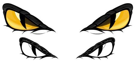 serpent noir: Snake Eyes illustration - en couleur et en monochrome Illustration