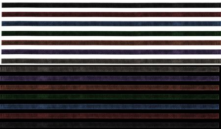 set of narrow isolated ribbons for digital scrap-booking photo