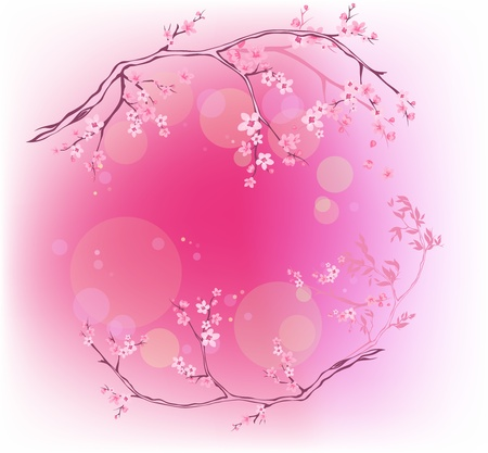 spring blooming background Vector