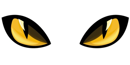 hypnotizing: yellow staring cat eyes vector illustration