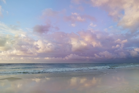 pastel shades:  idyllic sea landscape - pastel shades clouds and water