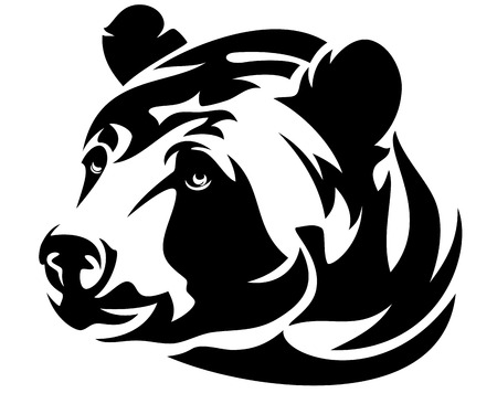carnivores: bear  vector Illustration