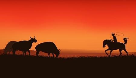 red bull: wild west prairie landscape