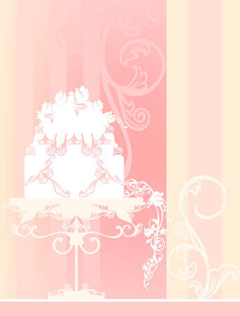 cake background: wedding background with cake  Illustration