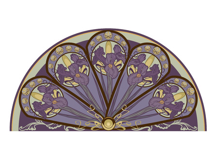 iris flower decorative design element - floral vector design