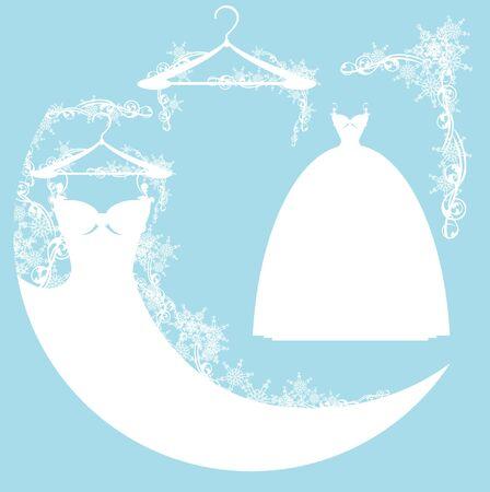 Brautkleid unter Schnee - Design-Elemente