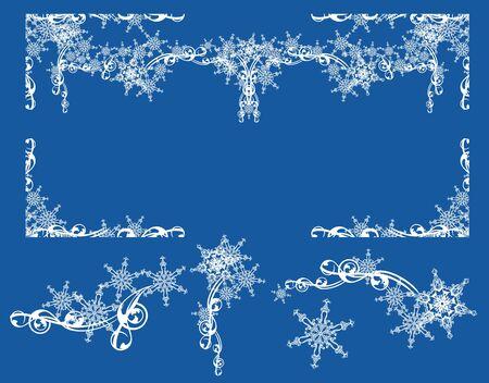 Winter snow design set. Ilustracja