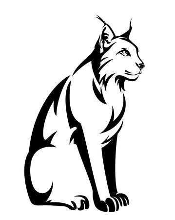 Sitting lynx design