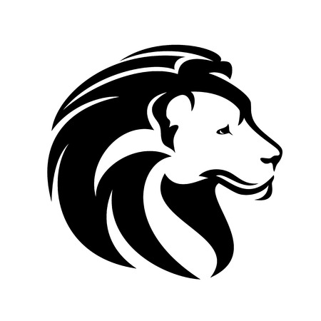 African lion profile head