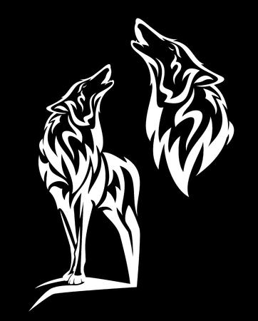 Alaskan tundra wolf howling