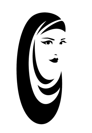 Beautiful woman wearing traditional muslim hijab head covering