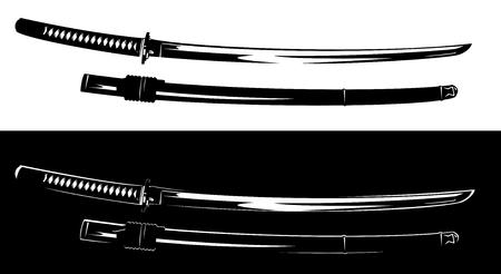 Traditional Japanese katana blade