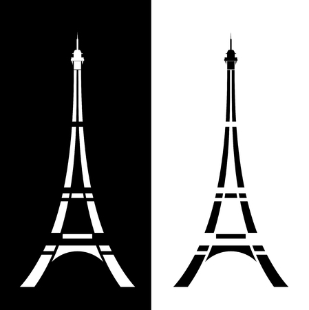 Eiffel tower simple modern silhouette outline