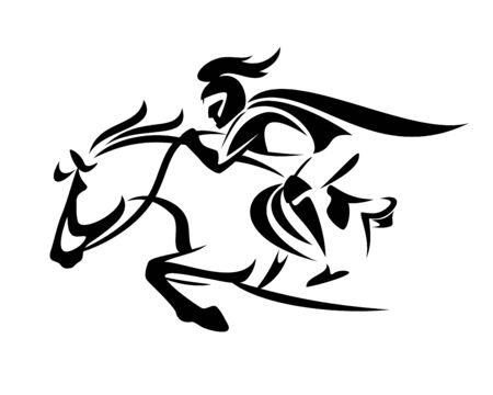 Medieval fantasy knight riding horse Stock fotó - 136426359