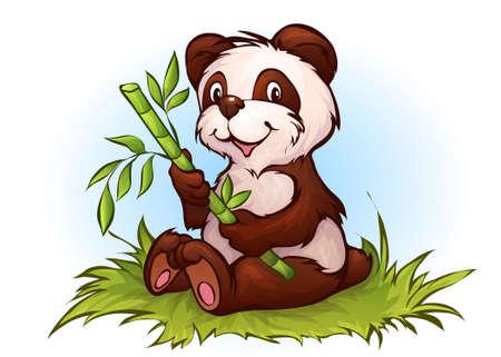 Vector illustration of panda in cartoon style  Vector