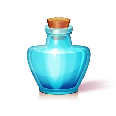 a substance vial: illustration of glass flask