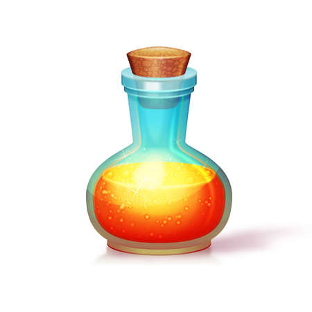 Vector illustration of glass flask. Isolated. Can be used on any background Vector