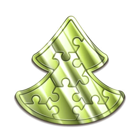 hexahedron: christmas tree maded from hexahedron puzzles Illustration