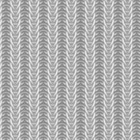 gray thread: Vector knitting seamless pattern in gray colors Illustration