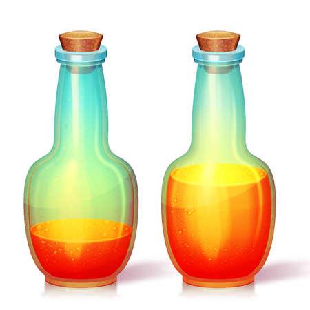 fiole: Vector illustration de la fiole de verre. Isol�. Peut �tre utilis� sur n'importe quel fond Illustration