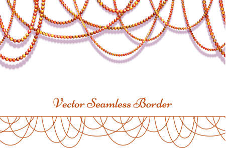 Vector abstract background with colored beads