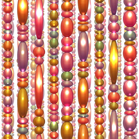 Vector seamless pattern with shiny colored beads