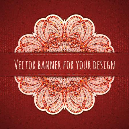 Vector illustration of elegance greeting card with arabesque. Illustration