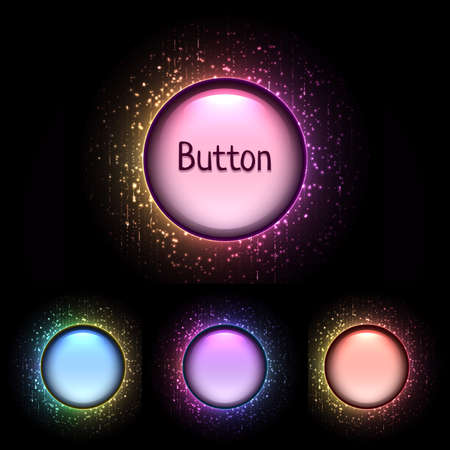 shiny buttons: Vector set of bright color shiny buttons. Illustration