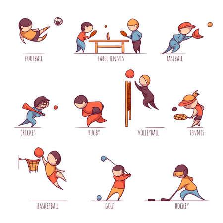 futbol soccer dibujos: Vector conjunto de 10 deportes, como el fútbol nos, tenis y etc