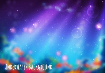 Vector illustration of blur underwater cave for your backdrop