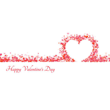 nobleness: Happy valentine day background with hearts. Vector illustration.