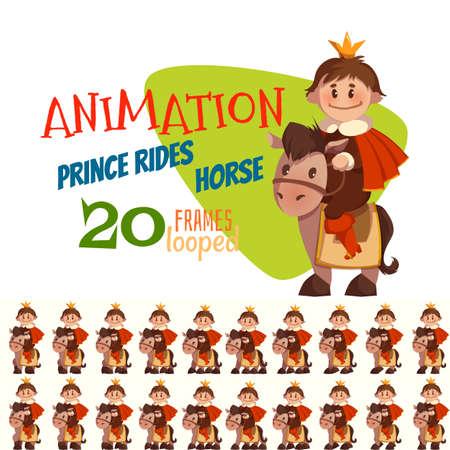 Ilustracji wektorowych z konia księcia w stylu płaskiej.