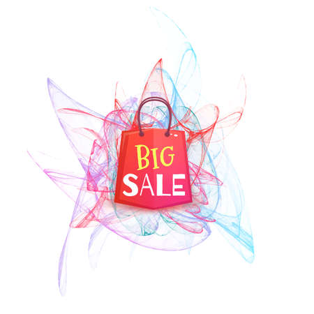 red packet: Big sale banner with red packet. Vector illustration.