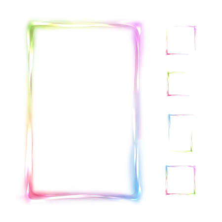abstract smoke: Vector rainbow frame isolated on white background.