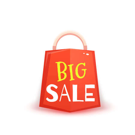 red packet: Big sale banner with red packet. illustration.