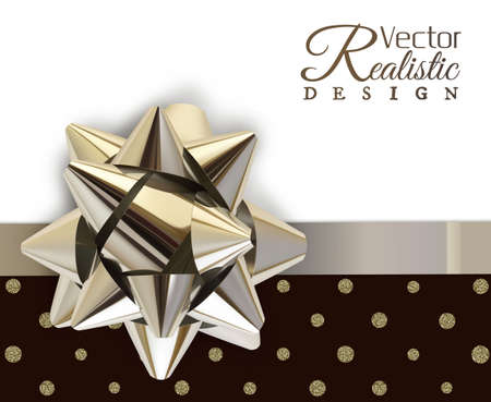 The big silver colored bow vector illustration template. Ilustracja