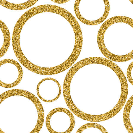 Gold abstract seamless pattern with dots. Vector illustration.