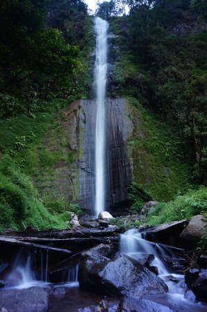 Tancak Kembar Waterfall is a beautiful place to visit with clear water and comes from mountain sources