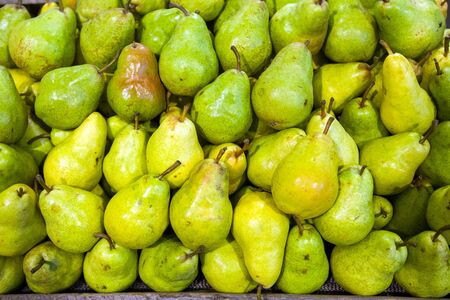 Pears in food store photo