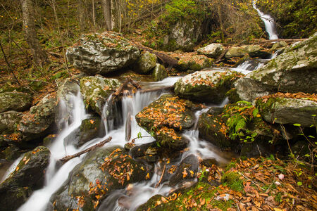 Waterfall in the Appalachian Mountains in the Autumn photo