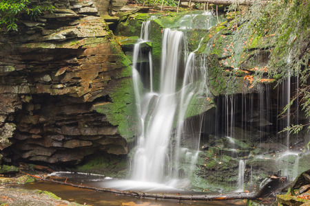 blackwater: Blackwater waterfall cascade with autumn foliage colors